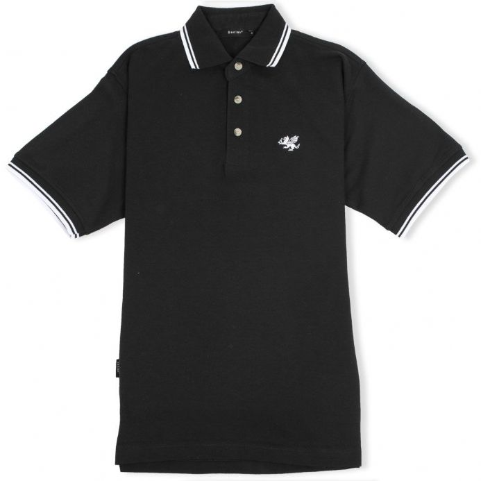 Senlak Tipped White Dragon of the English Polo Shirt - Black